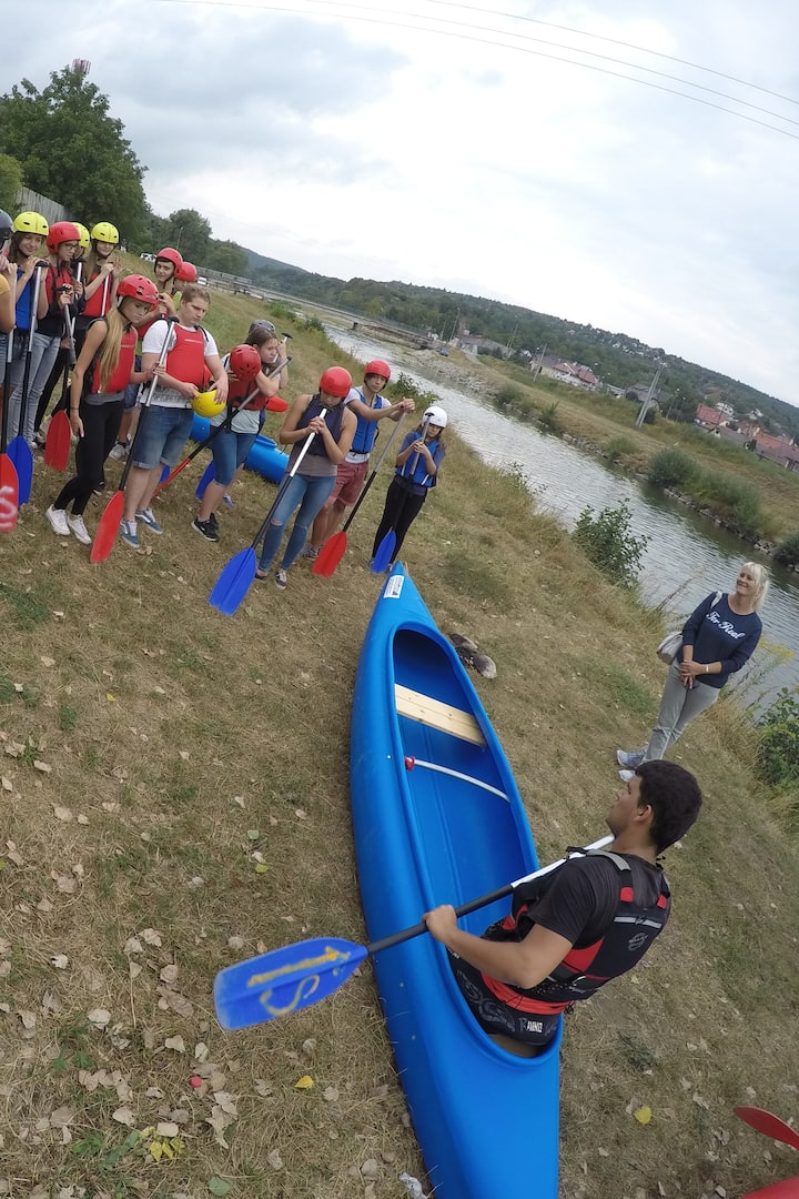 Instructions before paddling on water.