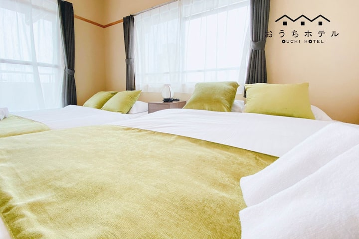 HG41 Cute 3br apt 12+10min train+boat to Miyajima