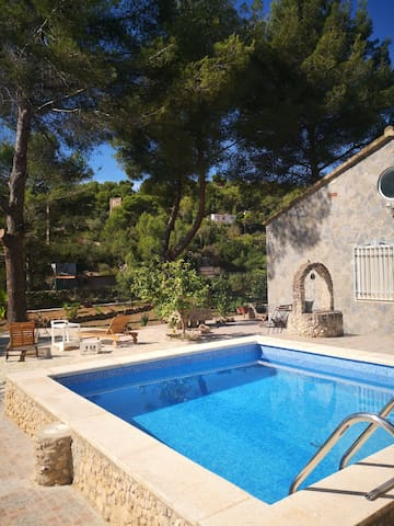 Sitges Hills Countryhouse with pool and garden