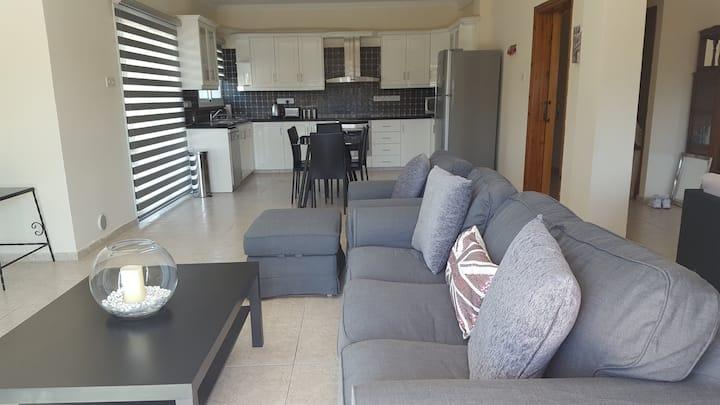 Spacious open plan Larnaca sea view apartment
