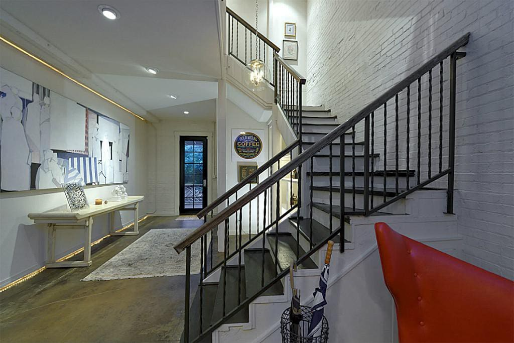 Stairs to 3rd story loft