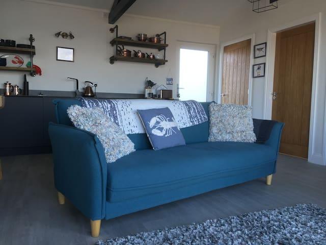 Comfy sofa and cushions