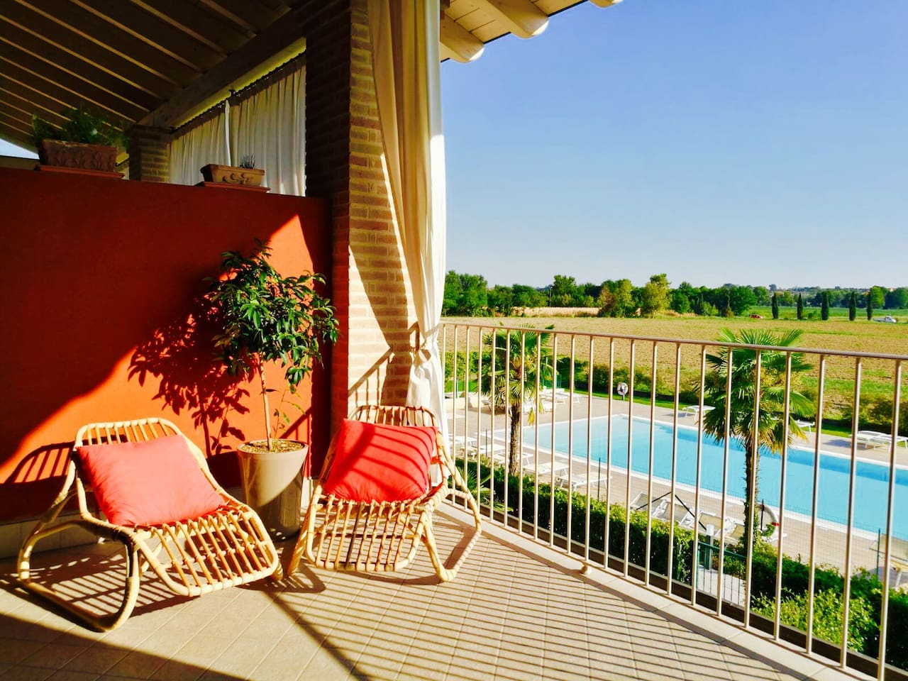 Our terrace pool and nature view