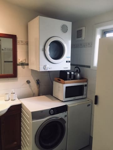Laundry, Microwave,Kettle, Toaster, Iron etci