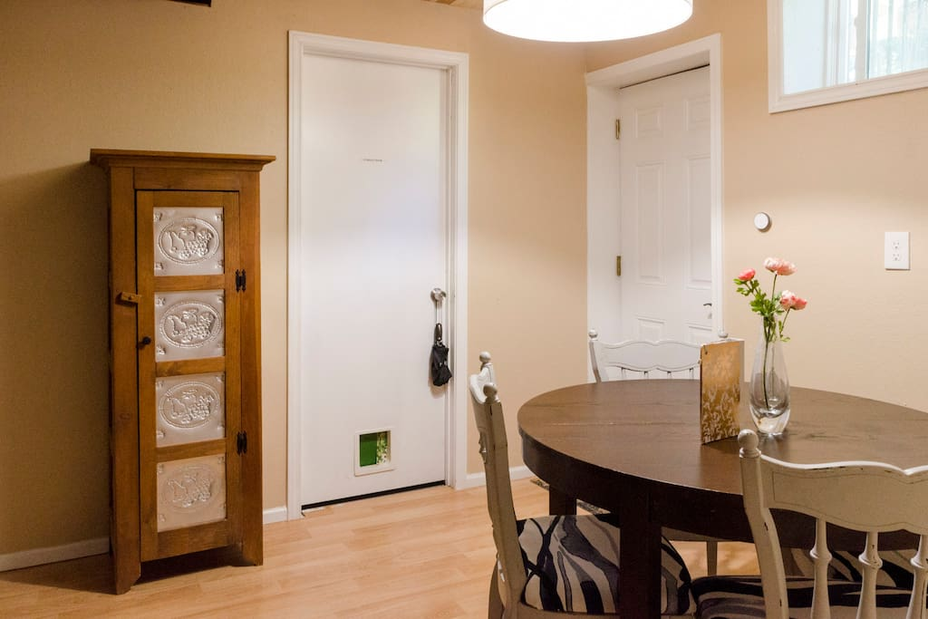 Dining and entry way.