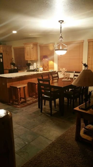 Dining Area between family room and Kitchen