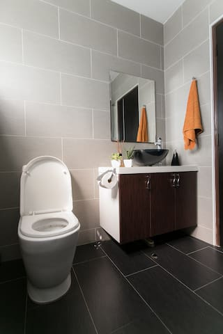 Downstairs Bathroom: Child toilet seats are provided, should you require.