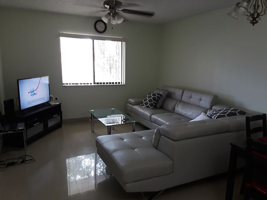 Living room with very comfortable Sofa.