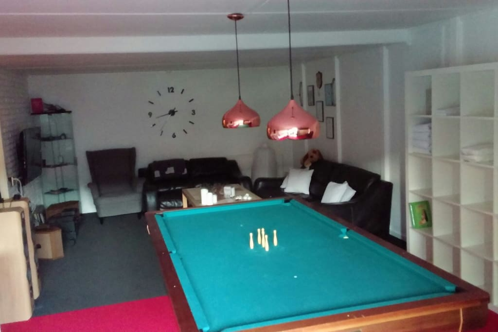 Billiard i forbindelse med stuearragement