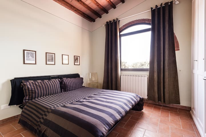 Enjoy a view of an ancient castle from this room!