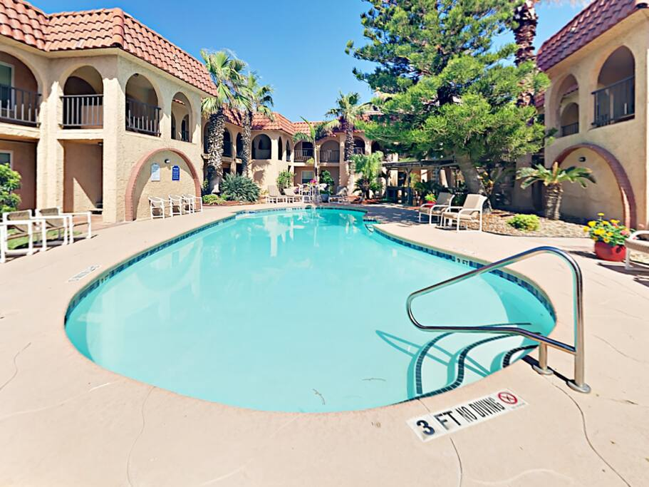 Take a dip in the sparkling community pool.