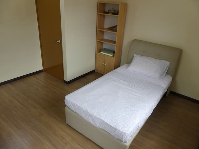 Comfy Single Bed, with optional/additional pullout mattress.
