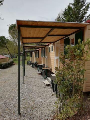 Casa Mobile con una camera da letto