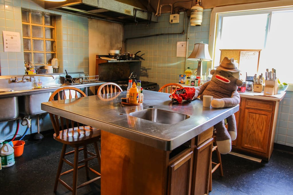 The kitchen area - perfect for bonding with other guests while cooking