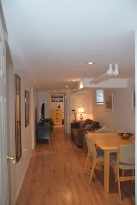 Good sized bright one-bedroom basement apartment