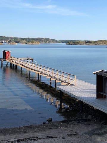 Härligt semesterhus vid Hamnplan i Rågårdsvik