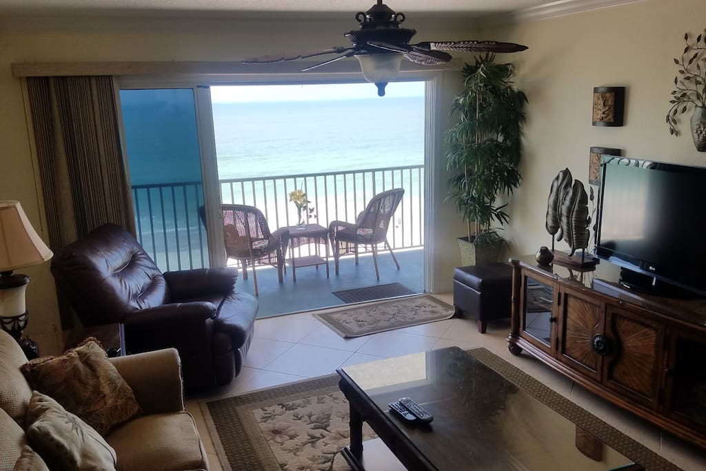 View of the Beach from the Living Room, Dining area, Kitchen, Master, & Balcony