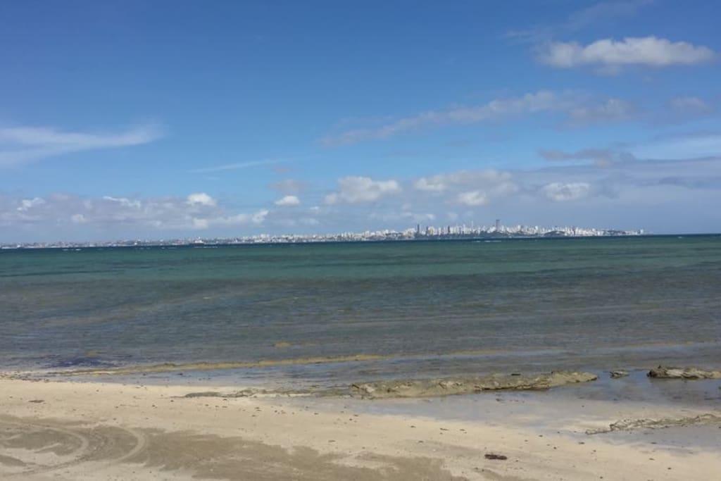 Vista da praia de Mar Grande