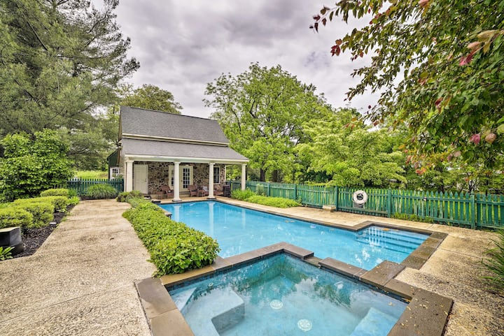 Historic Virginia Wine Country Villa w/Pool & Yard