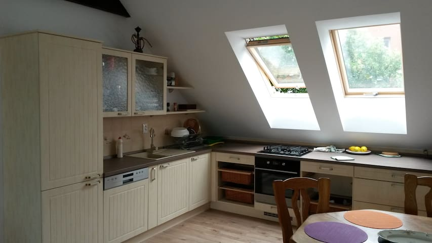 New attic room #1 at city center of Piestany - Piešťany - Apartament