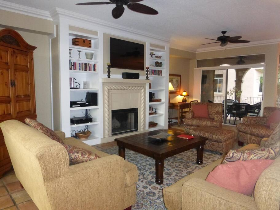 The Shells Villa is decorated with oriental rugs, antiques, and art work from all over the world.  But don't worry, the home is equally comfortable for snowbirds looking to beat the winter as it is for families and kids.