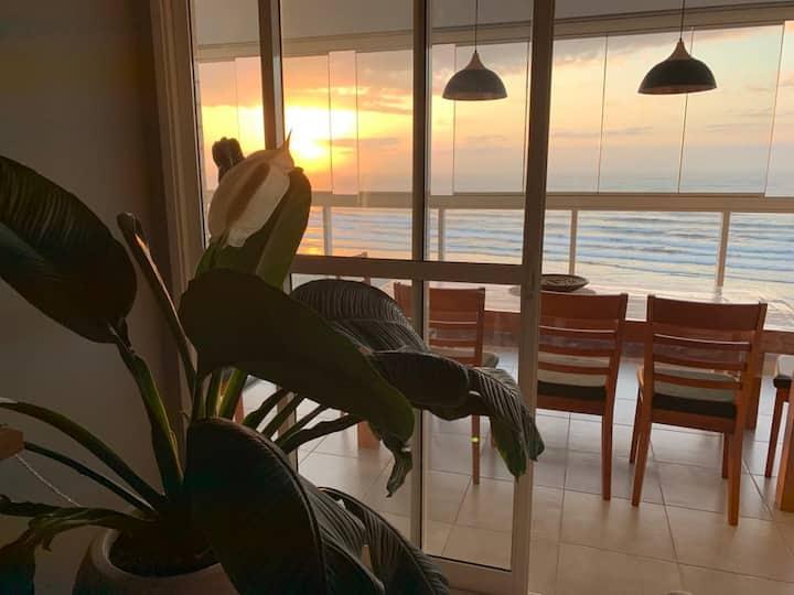 Apartamento Pé na areia, Vista frontal | Tv e WIFI