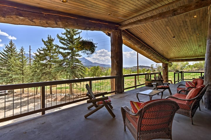 Paonia Apt. on Working Farm w/Deck & Mtn. Views!