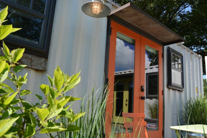 Contemporary Repurposed Green Shipping Container I