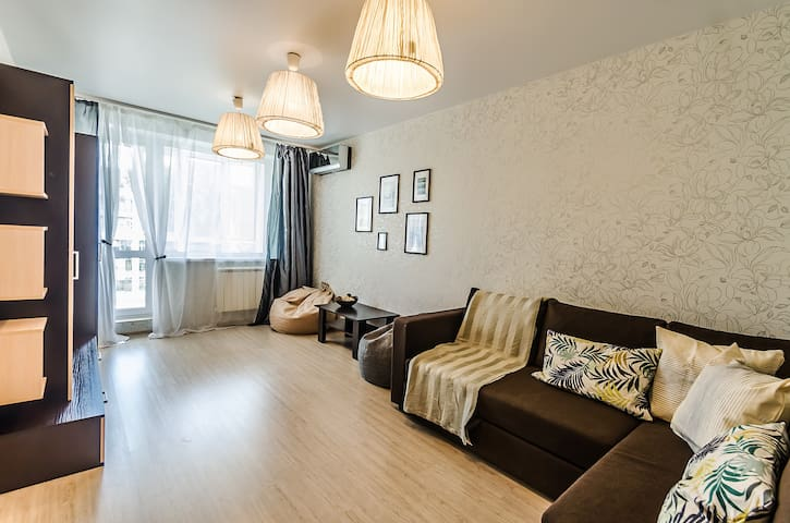 Apartment at Volga beach in the city center