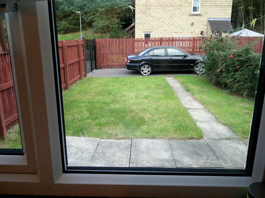 Rear Garden with Private Drive for 2 Cars