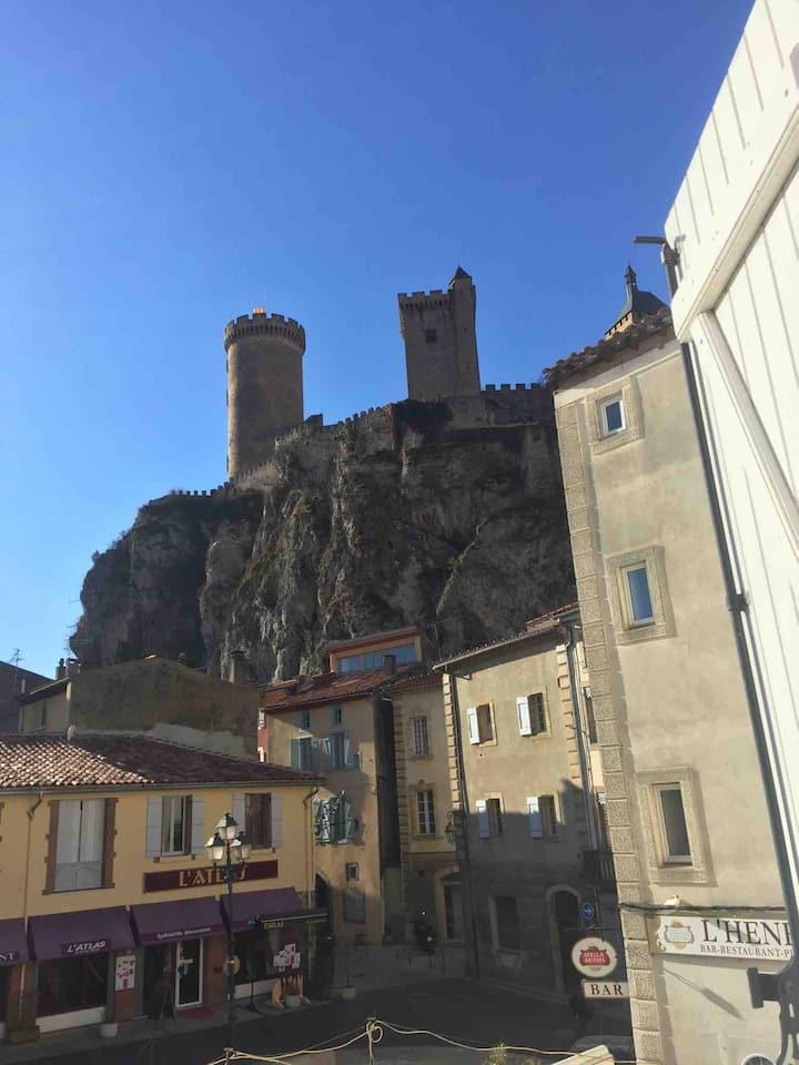 Appartement à Foix avec vu sur le chateau