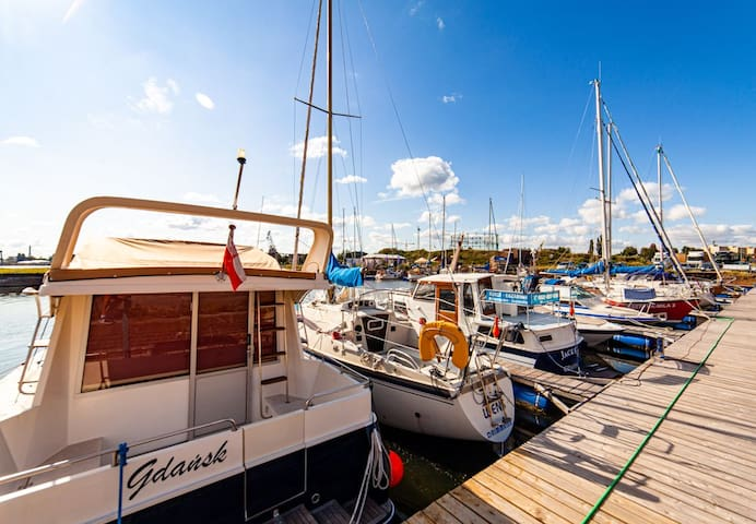 Stay like a sailor in Gdansk on our 14 meter yacht