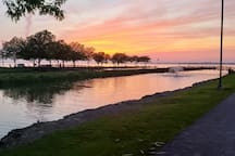 Just a short 15 minute walk to Sandusky's beautiful waterfront.