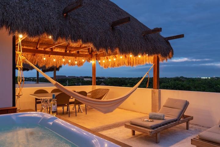 Villa Saasil• Private Palapa&Jacuzzi• Jungle Views