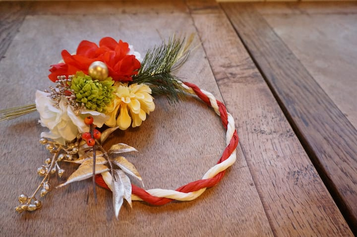 Japanese style wreath