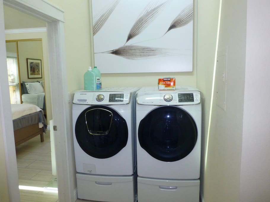 Large new washer and dryer inside.