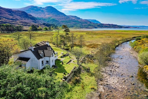 Traditional house on NC500 by Loch Torridon