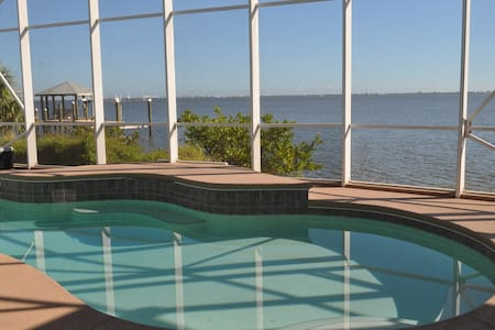 Direct Riverfront Island Entertaining Pool Home