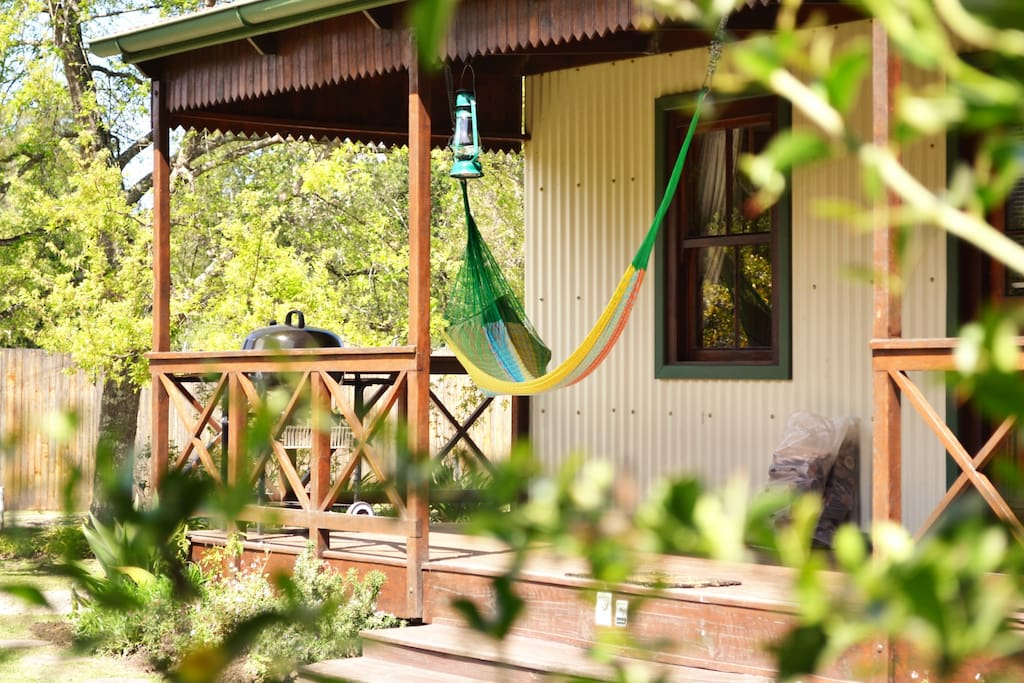 Sway your Troubles away in one of our Hammocks, overlooking the Knysna Forest