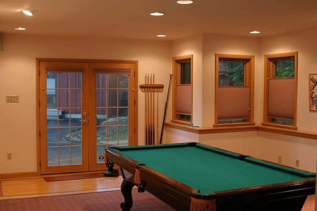 Billiards convertible to Ping-Pong Table, 1st floor
