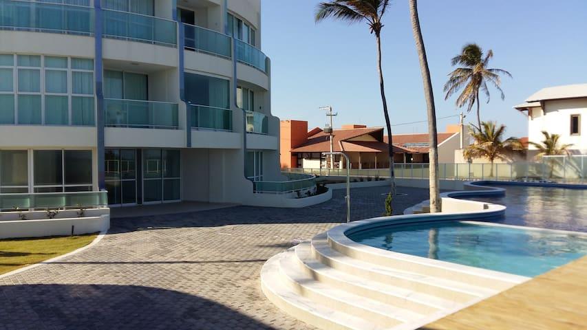 Apartamento beira-mar - Barra de São Miguel - Flat
