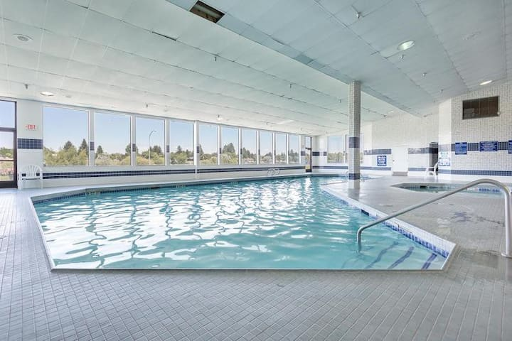 enjoy the indoor pool 24-hours a day