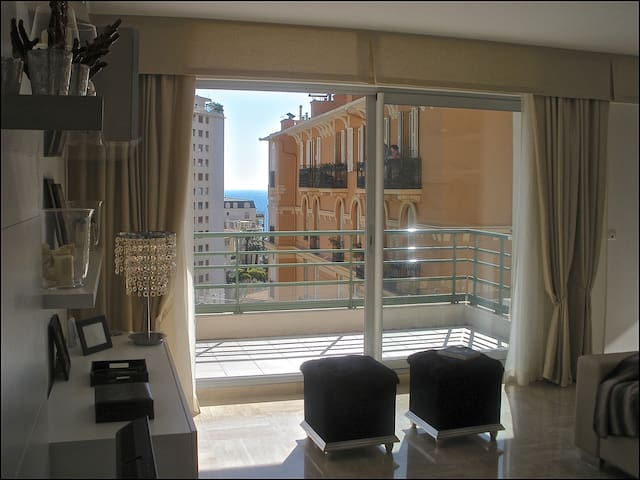 New Apartment in Monaco, balcony and garage.