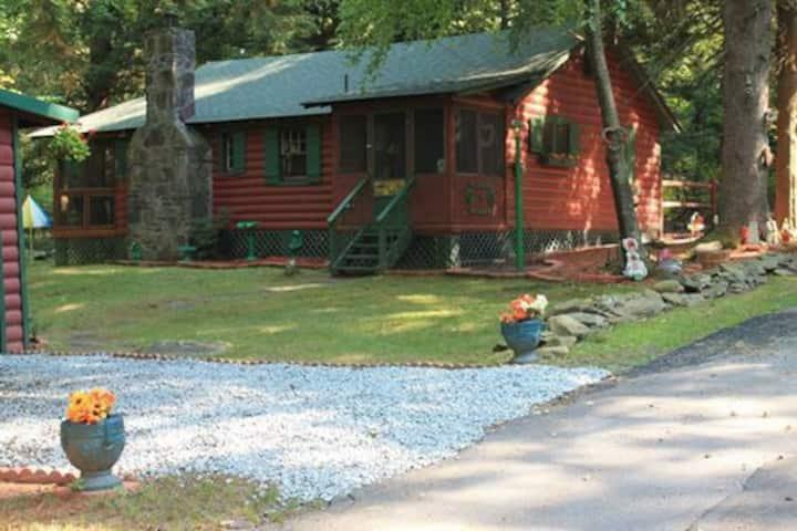 Cabin in lake community