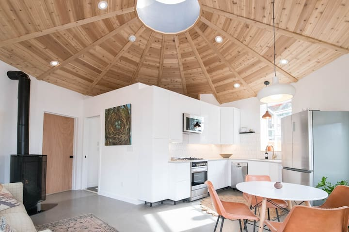 Sun-Drenched Mandala Round House - Newly Built