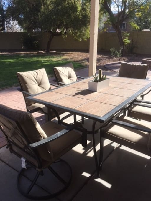 Covered Patio and Outdoor Dining Area