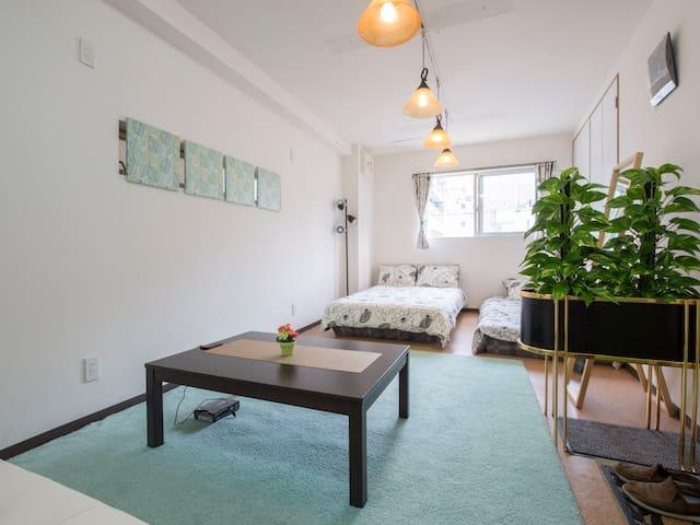 Shin Osaka area 45㎡ big room★no extra cost up to 5 - Osaka-shi - House
