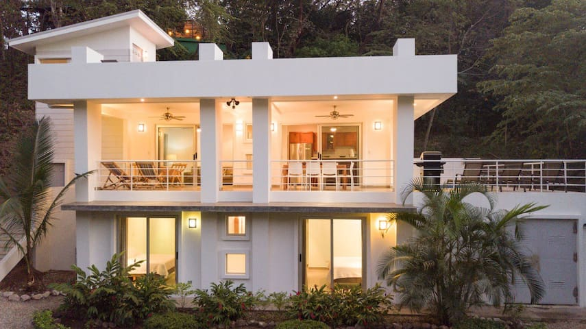 Modern, Spacious Jungle beach Villa just a short walk to the surf and Yoga!