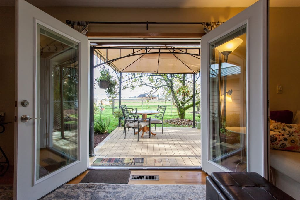 French door access to your private deck.