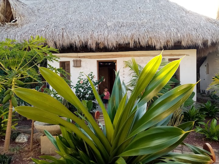 Tierra Nahua  Eco Lodge Casa 🥥 a step from  beach
